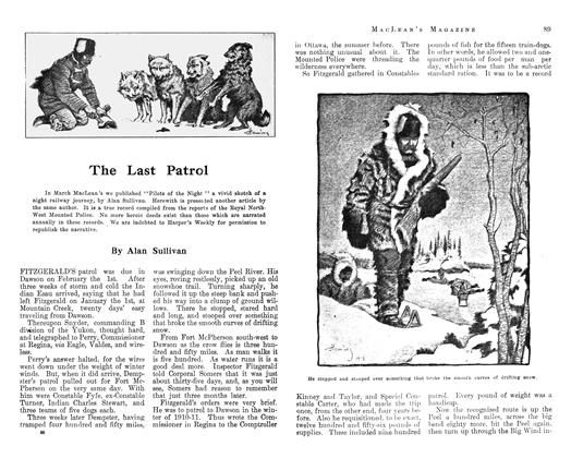 Article Preview: The Last Patrol, April 1913 | Maclean's