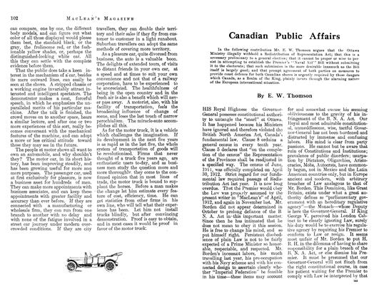 Article Preview: Canadian Public Affairs, April 1913 | Maclean's