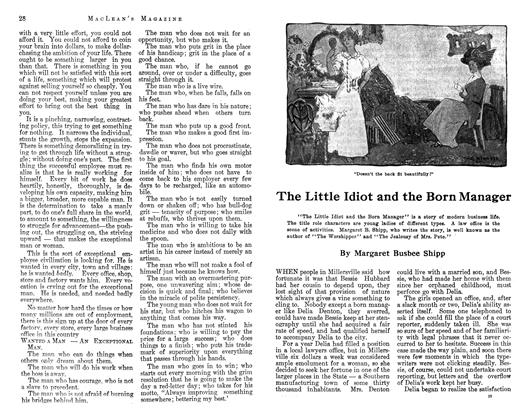Article Preview: The Little Idiot and the Born Manager, April 1913 | Maclean's