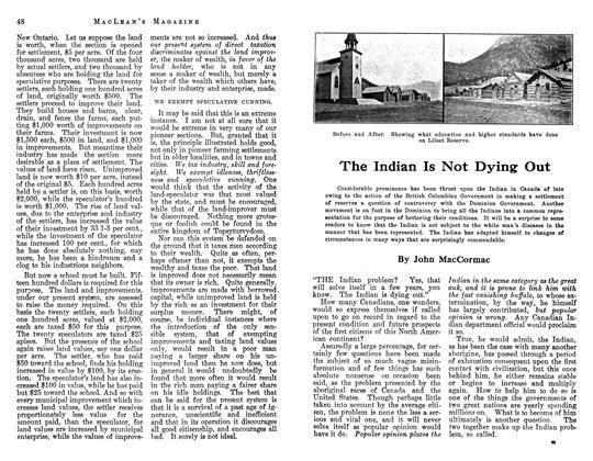 Article Preview: The Indian Is Not Dying Out, May 1913 | Maclean's