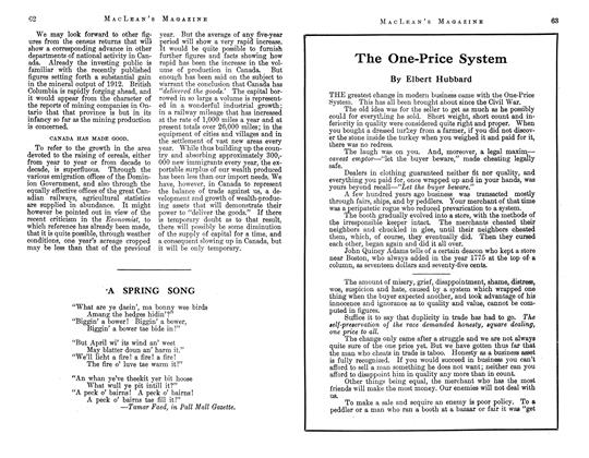 Article Preview: The One-Price System, May 1913 | Maclean's