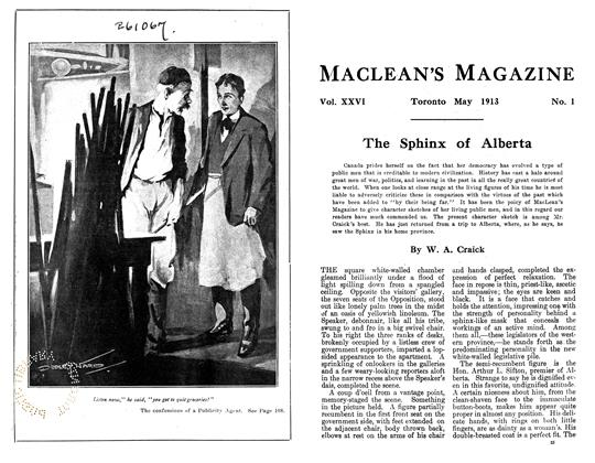 Article Preview: The Confessions of a Publicity Agent, May 1913 | Maclean's