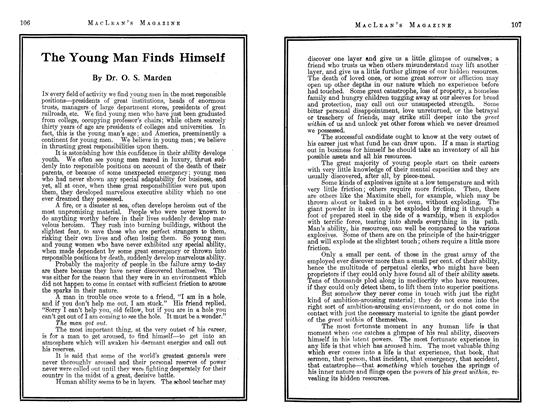 Article Preview: The Young Man Finds Himself, May 1913 | Maclean's