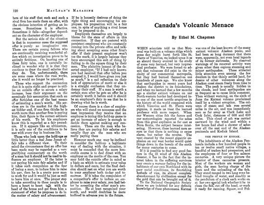 Article Preview: Canada's Volcanic Menace, May 1913 | Maclean's