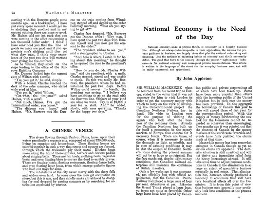 Article Preview: National Economy is the Need of the Day, June 1913   Maclean's
