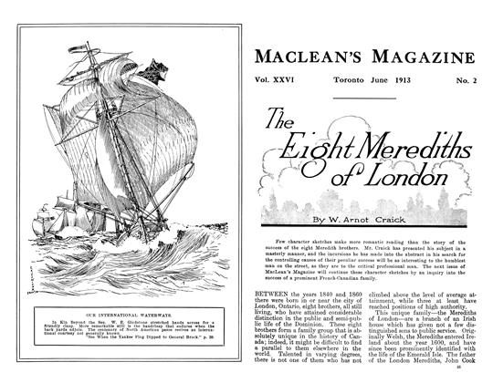 Article Preview: The Eight Merediths of London, June 1913 | Maclean's
