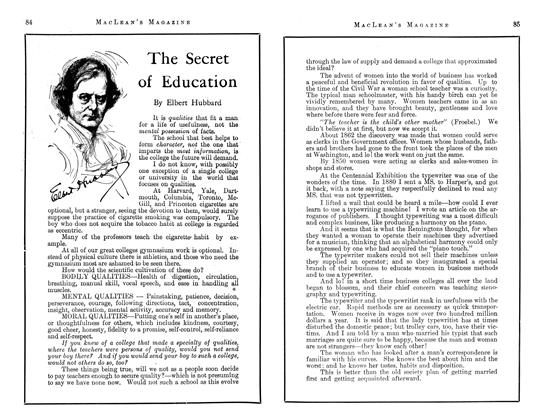 Article Preview: The Secret of Education, June 1913 | Maclean's