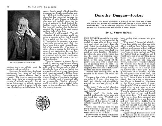 Article Preview: Dorothy Duggan—Jockey, June 1913 | Maclean's