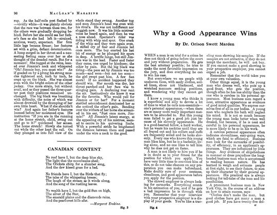 Article Preview: Why a Good Appearance Wins, June 1913 | Maclean's
