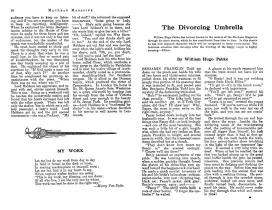 Article Preview: The Divorcing Umbrella, July 1913 | Maclean's