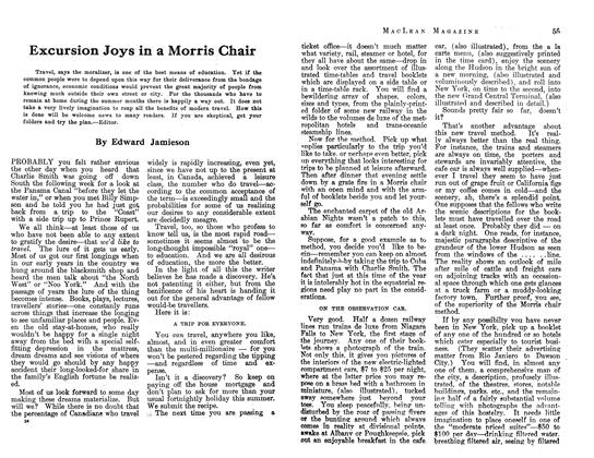 Article Preview: Excursion Joys in a Morris Chair, July 1913 | Maclean's