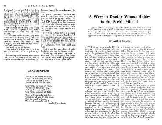 Article Preview: A Woman Doctor Whose Hobby is the Feeble-Minded, August 1913 | Maclean's