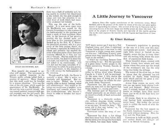 Article Preview: A Little Journey to Vancouver, August 1913 | Maclean's