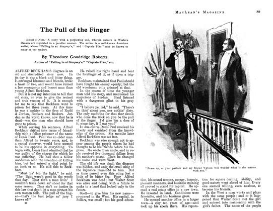 Article Preview: The Pull of the Finger, August 1913 | Maclean's