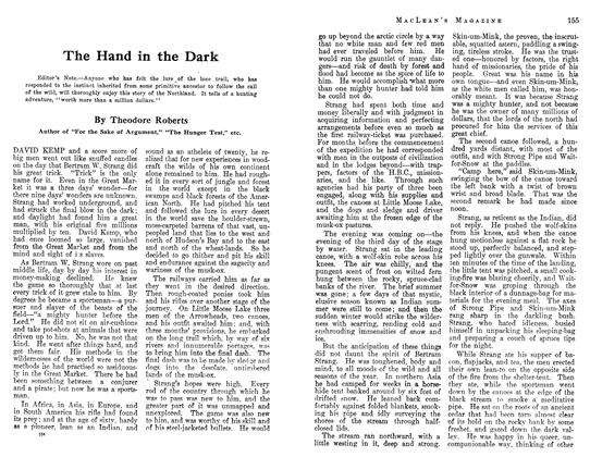 Article Preview: The Hand in the Dark, August 1913 | Maclean's