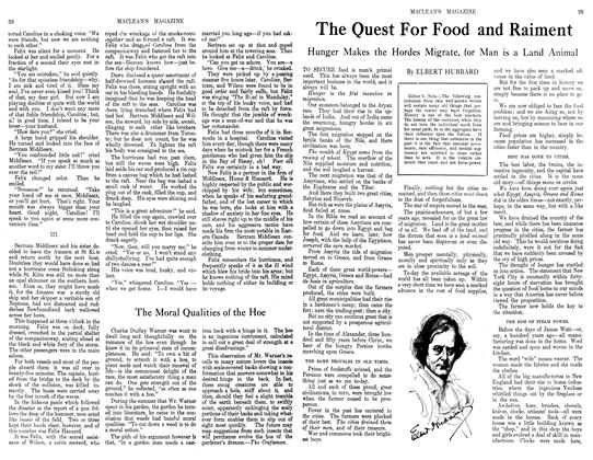 Article Preview: The Quest For Food and Raiment, September 1913 | Maclean's