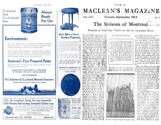 Article Preview: The Molsons of Montreal, September 1913 | Maclean's