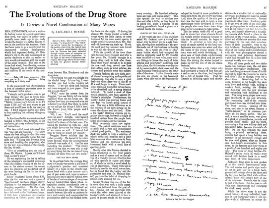 Article Preview: The Evolutions of the Drug Store, September 1913 | Maclean's