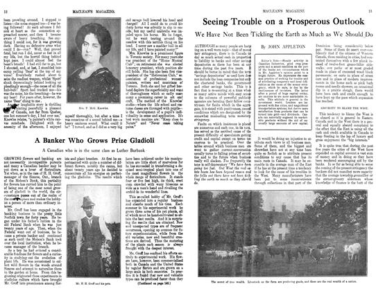 Article Preview: Seeing Trouble on a Prosperous Outlook, September 1913   Maclean's
