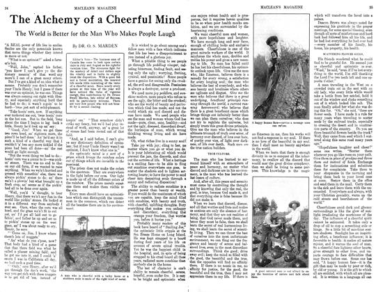 Article Preview: The Alchemy of a Cheerful Mind, October 1913 | Maclean's