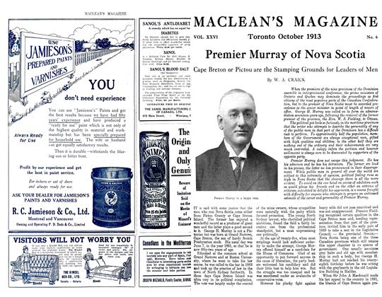 Article Preview: Premier Murray of Nova Scotia, October 1913 | Maclean's