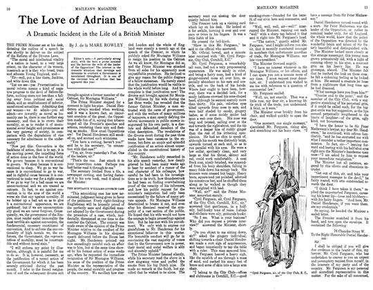 Article Preview: The Love of Adrian Beauchamp, October 1913 | Maclean's