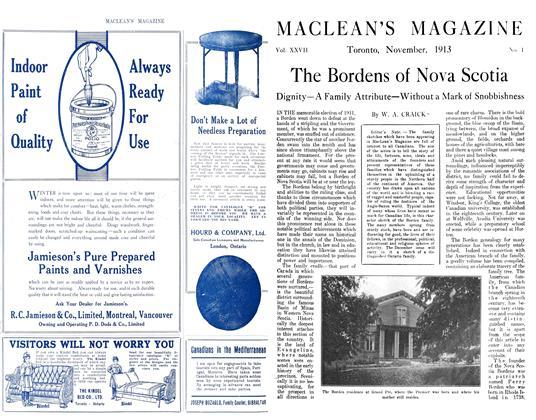 Article Preview: The Bordens of Nova Scotia, November 1913 | Maclean's