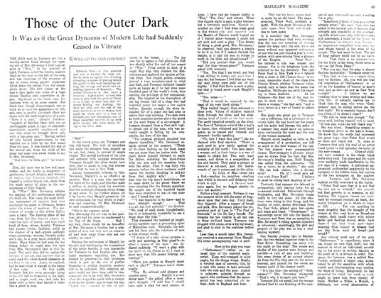 Article Preview: Those of the Outer Dark, November 1913 | Maclean's