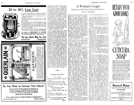Article Preview: A Woman's Logic, November 1913 | Maclean's