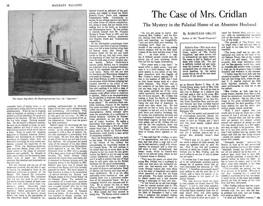 Article Preview: The Case of Mrs. Cridlan, November 1913 | Maclean's