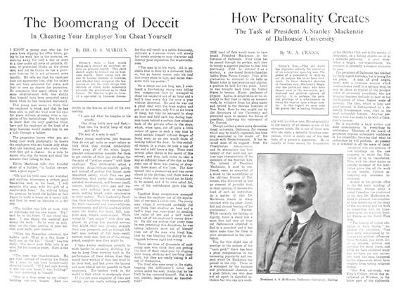 Article Preview: How Personality Creates, December 1913 | Maclean's