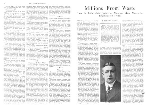 Article Preview: Millions From Waste, December 1913 | Maclean's