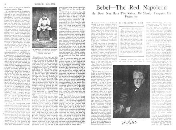 Article Preview: Bebel—The Red Napoleon, December 1913 | Maclean's