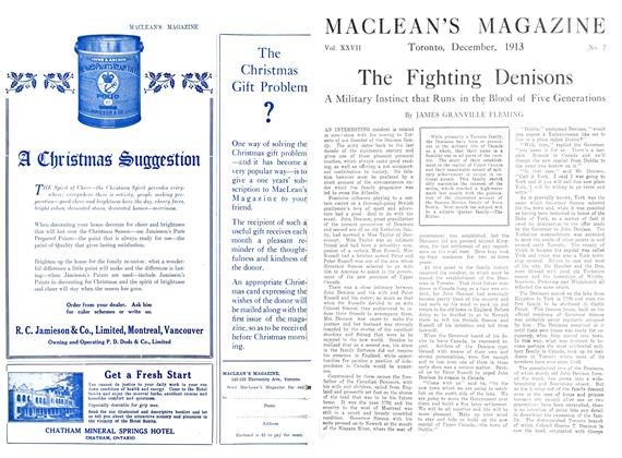 Article Preview: The Fighting Denisons, December 1913 | Maclean's
