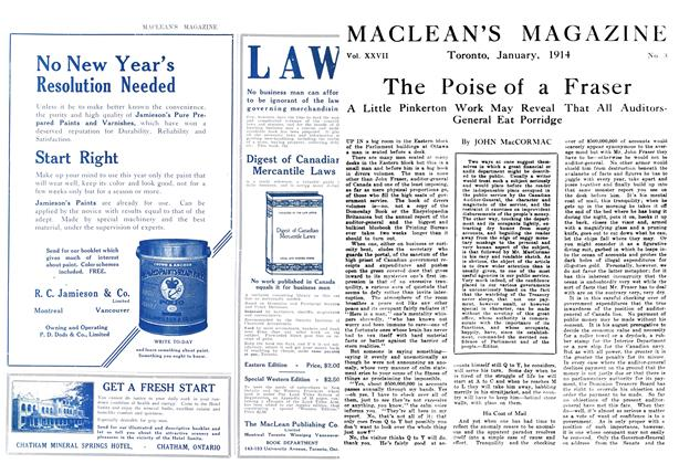 Article Preview: The Poise of a Fraser, January 1914 | Maclean's