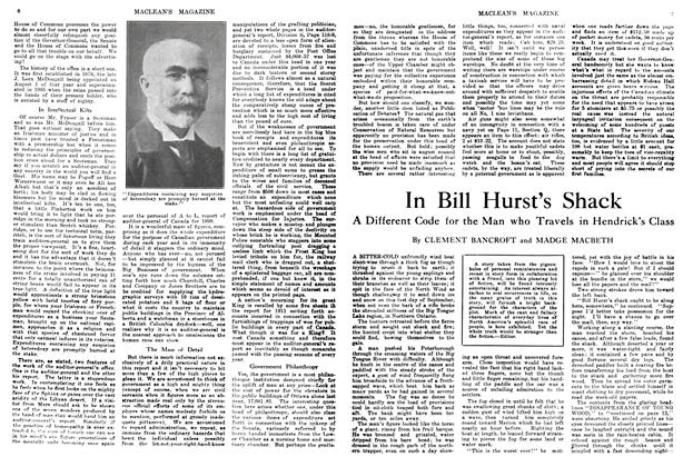 Article Preview: In Bill Hurst's Shack, January 1914 | Maclean's