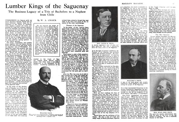 Article Preview: Lumber Kings of the Saguenay, January 1914   Maclean's
