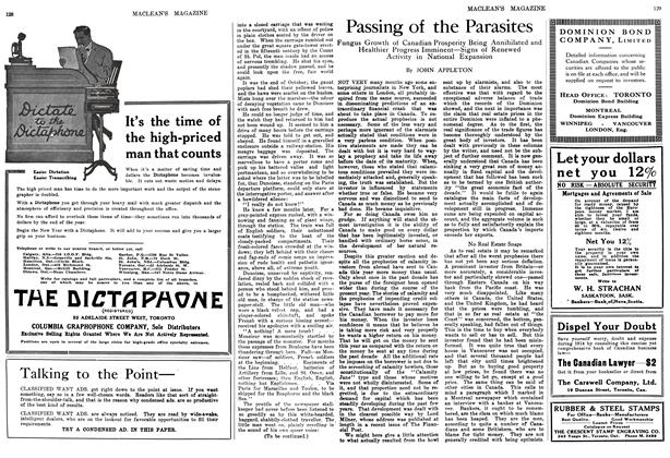Article Preview: Passing of the Parasites, January 1914 | Maclean's
