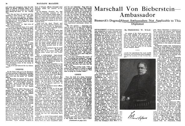 Article Preview: Marschall Von Bieberstein— Ambassador, February 1914 | Maclean's