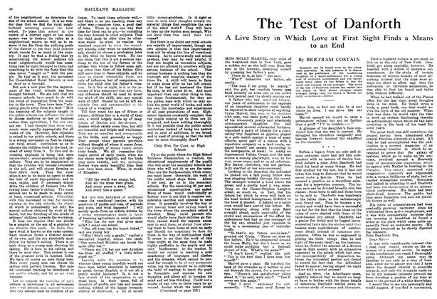 Article Preview: The Test of Danforth, February 1914 | Maclean's
