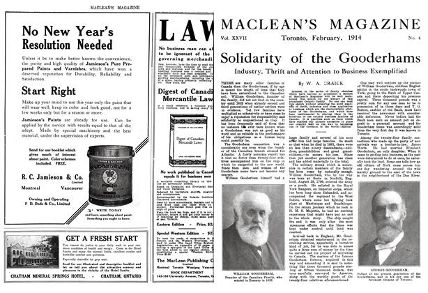 Article Preview: Solidarity of the Gooderhams, February 1914 | Maclean's