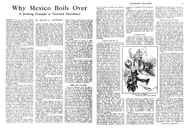 Article Preview: Why Mexico Boils Over, February 1914 | Maclean's