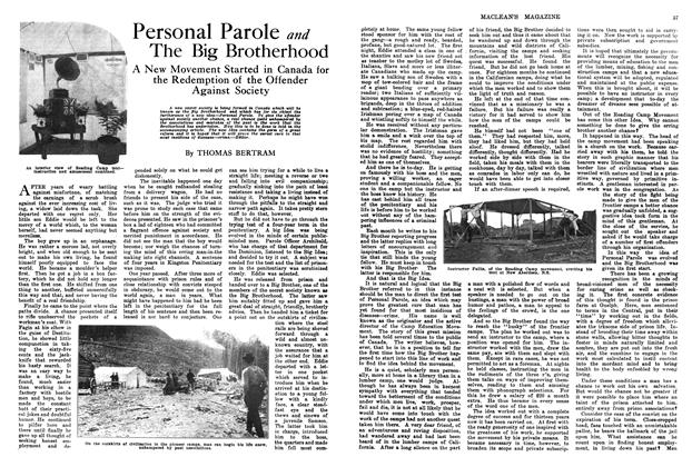 Article Preview: Personal Parole and The Big Brotherhood, March 1914 | Maclean's