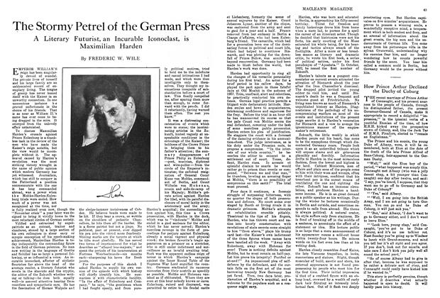 Article Preview: The Stormy Petrel of the German Press, April 1914 | Maclean's