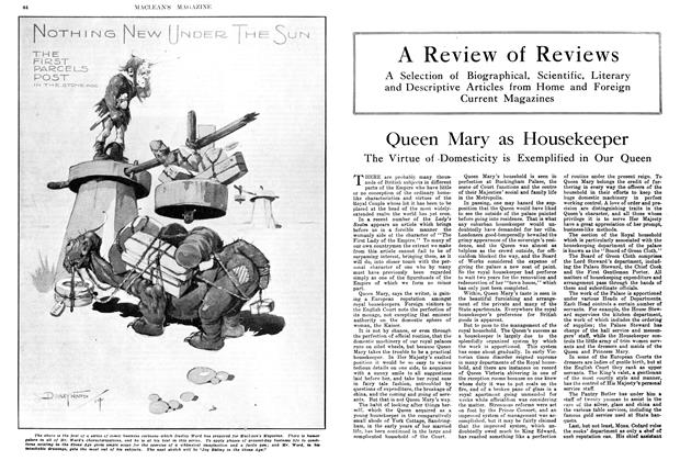 Article Preview: Queen Mary as Housekeeper, April 1914 | Maclean's