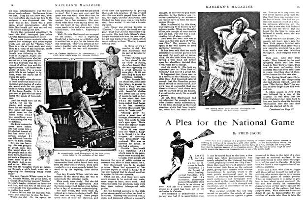 Article Preview: A Plea for the National Game, May 1914 | Maclean's