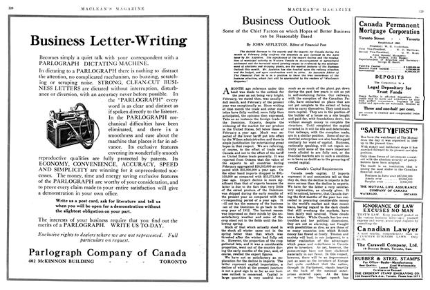 Article Preview: Business Outlook, May 1914 | Maclean's