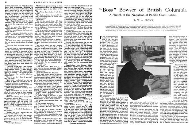 "Article Preview: ""Boss"" Bowser of British Columbia, June 1914 