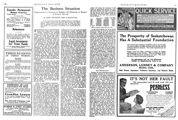 Article Preview: The Business Situation, June 1914 | Maclean's