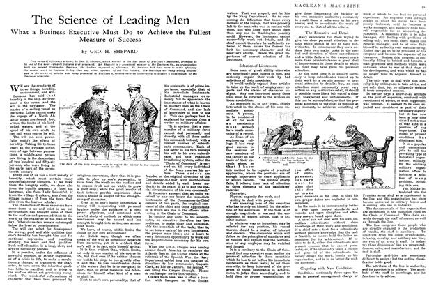 Article Preview: The Science of Leading Men, June 1914 | Maclean's